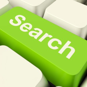 Search Computer Key Green Showing Internet Access And Online Research