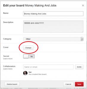 Edit your board 1