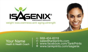 business card Isagenix