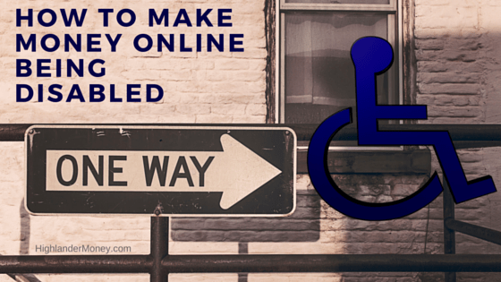 How To make money online being disabled